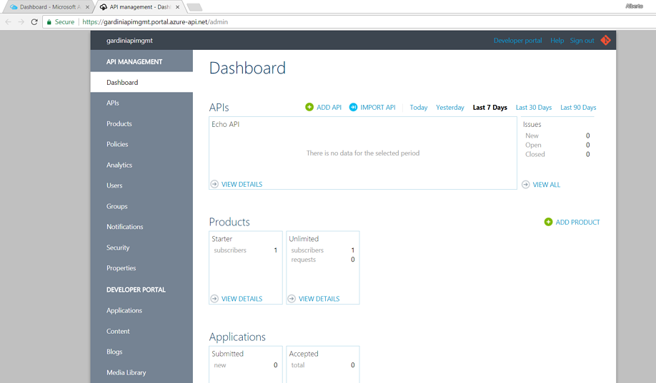 Azure API Management overview and Amazon API gateway comparison