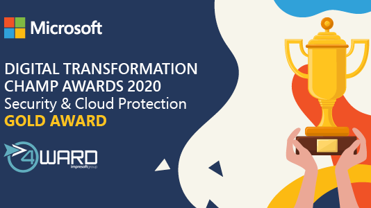 4ward premiata al Microsoft Inspire 2020 con il Security & Cloud Protection GOLD Award
